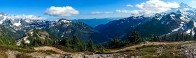 Hiking trails around Mt Baker, Washington