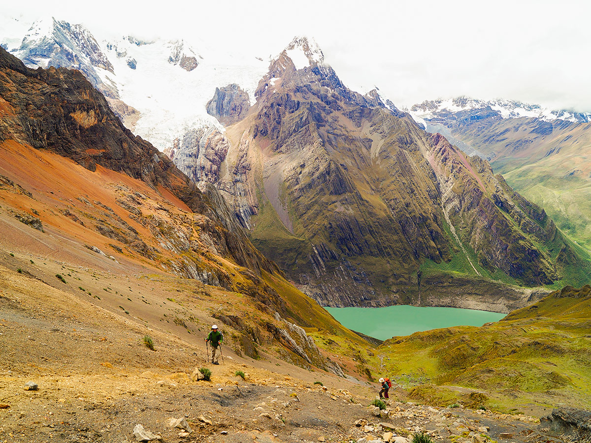 Trekking in Cordillera Huayhuash on a guided tour