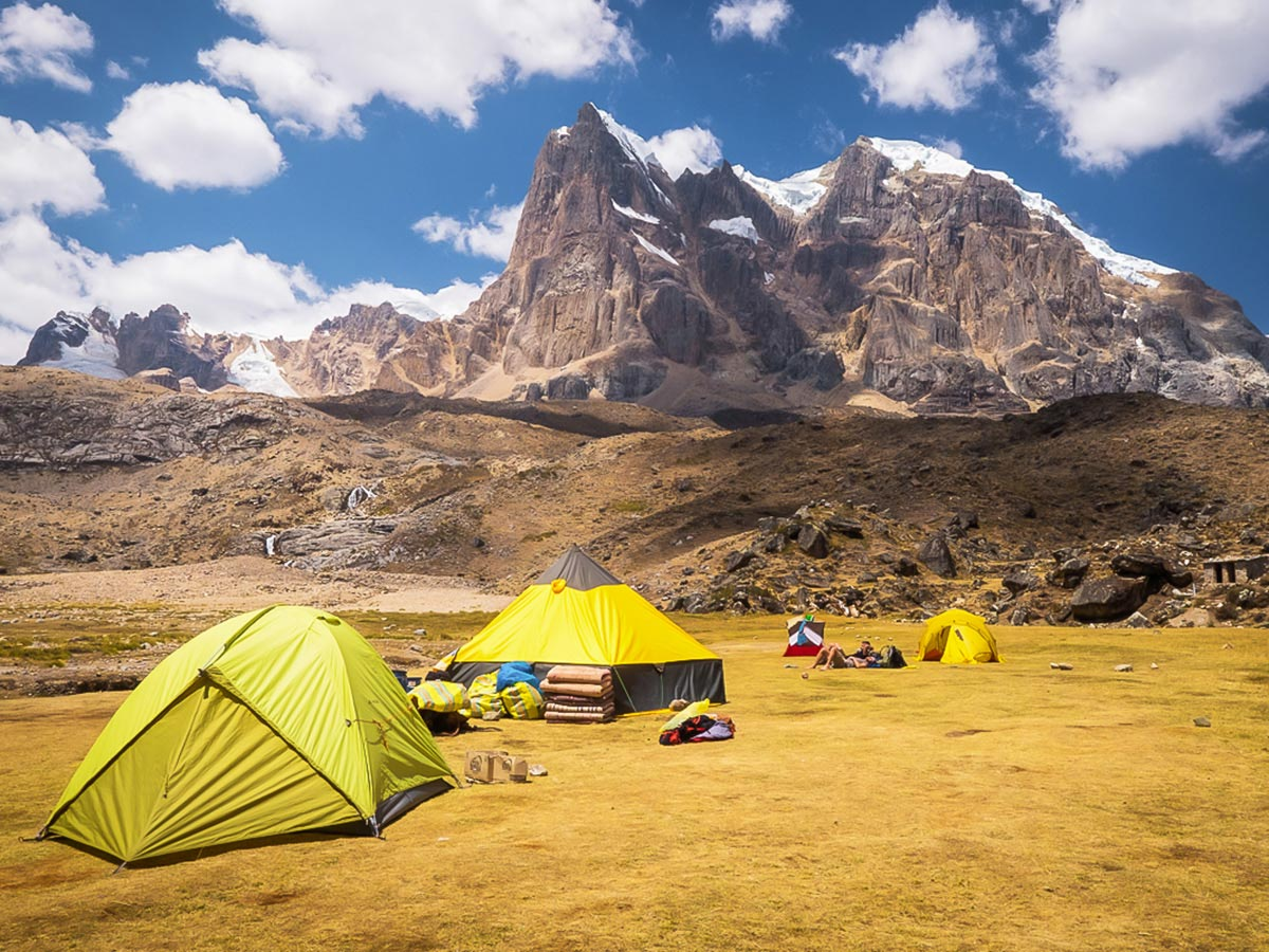 Huanacpatay campground on Huayhuash Circuit Trek in Peru