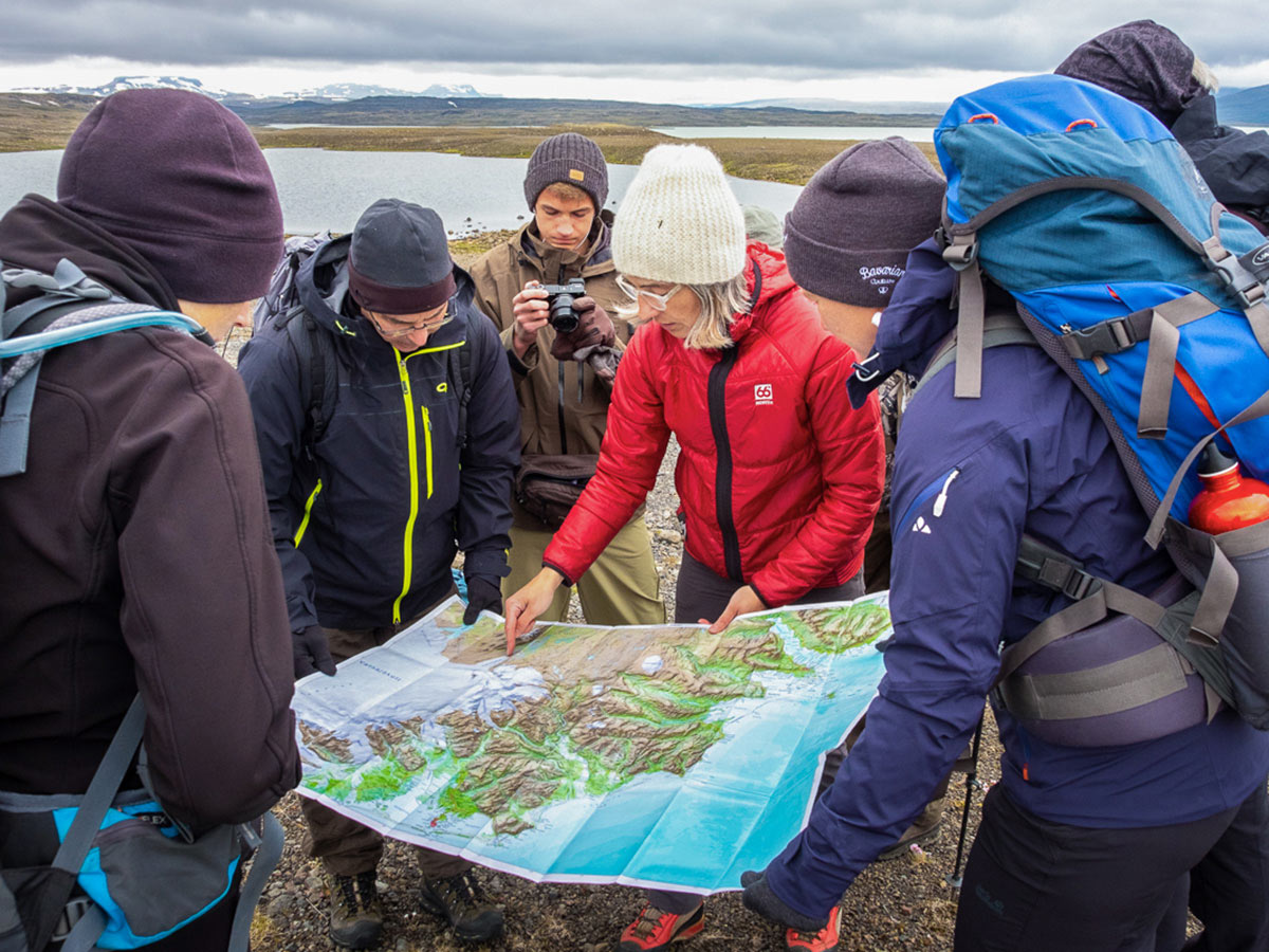 Studying the route of Iceland's Shadow of Vatnajökull Trek