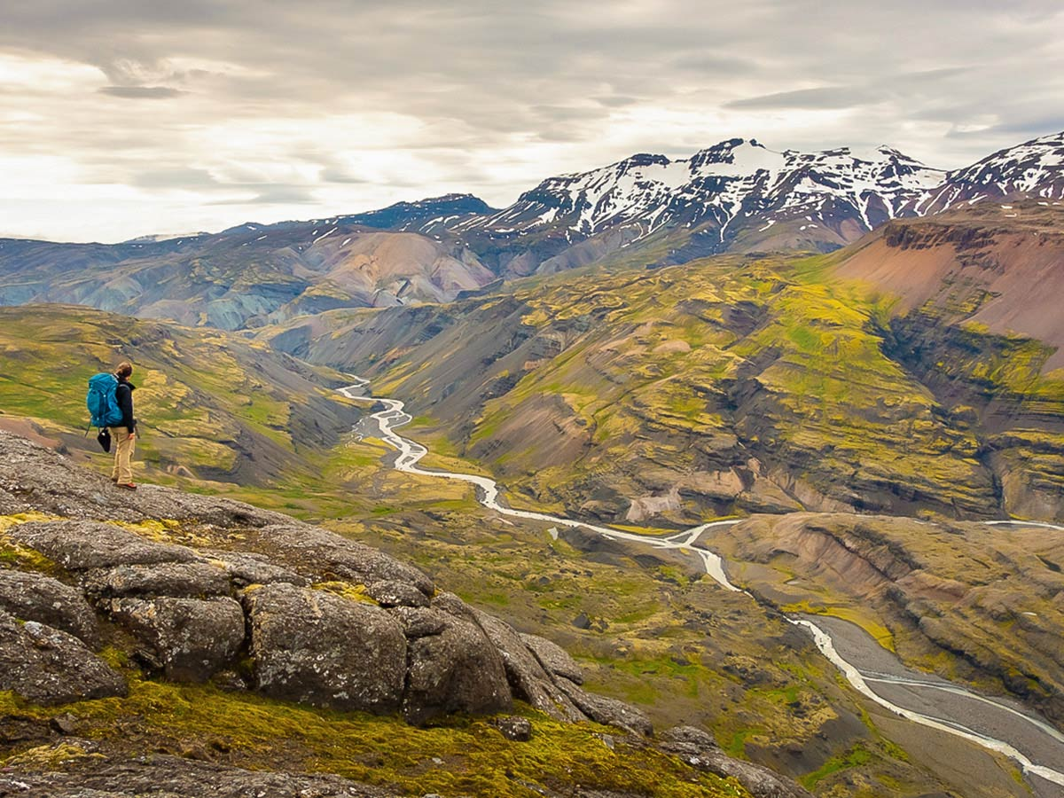 River valley on Iceland's Shadow of Vatnajökull Trek