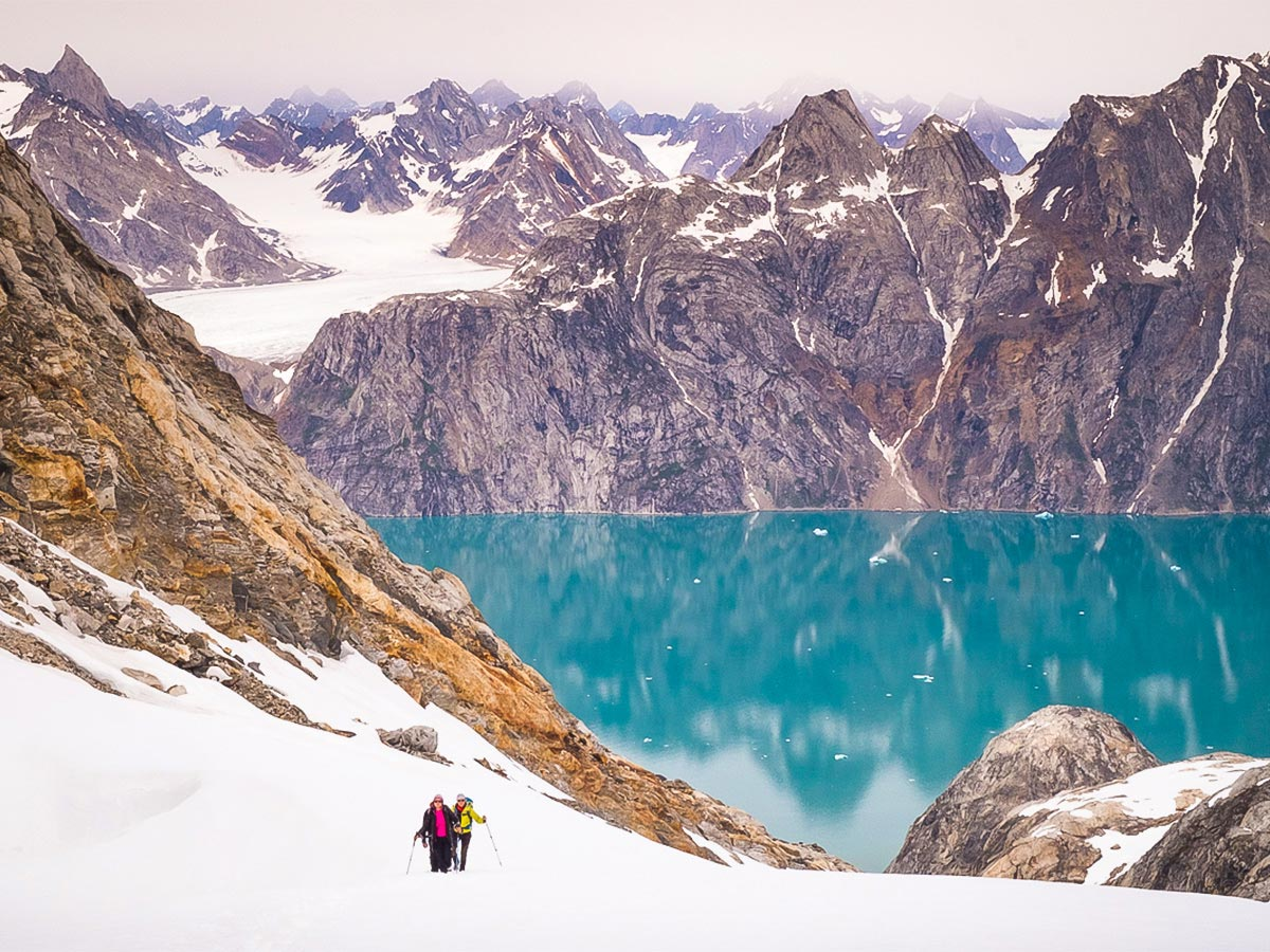 Fjords, jagged mountains and glaciers characterise East Greenland