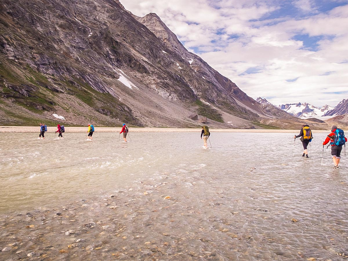 There are lots of glacial rivers to cross on this trek