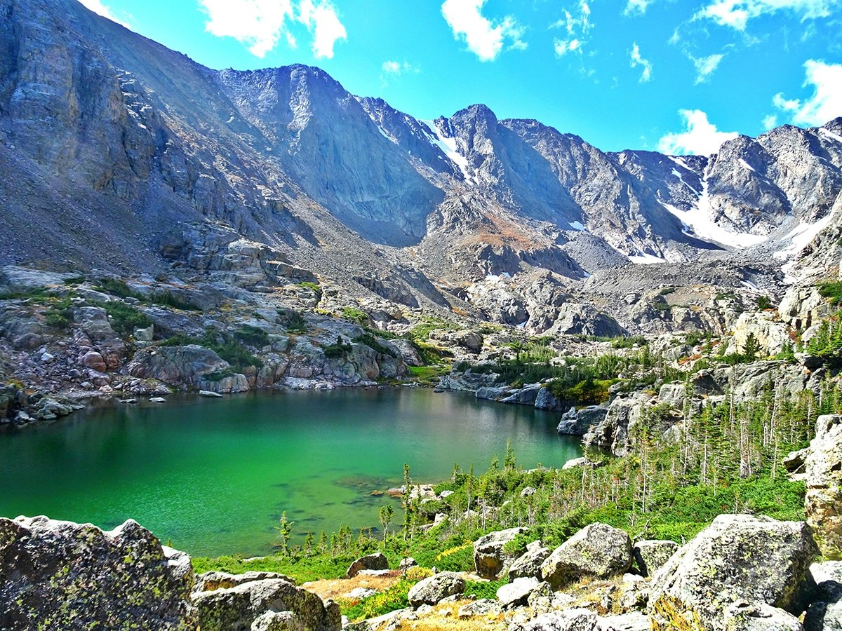 Sky Pond and Lake of Glass in Rocky Mountain National Park (Colorado) is one of 10 best hikes in the United States