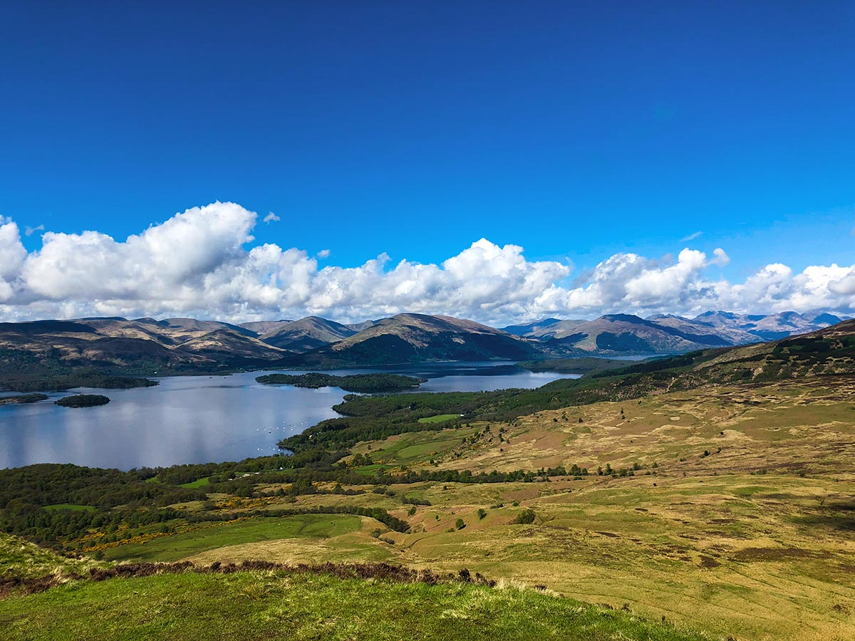 Incredible views of Loch Lomond on Scotland's West Highland Way
