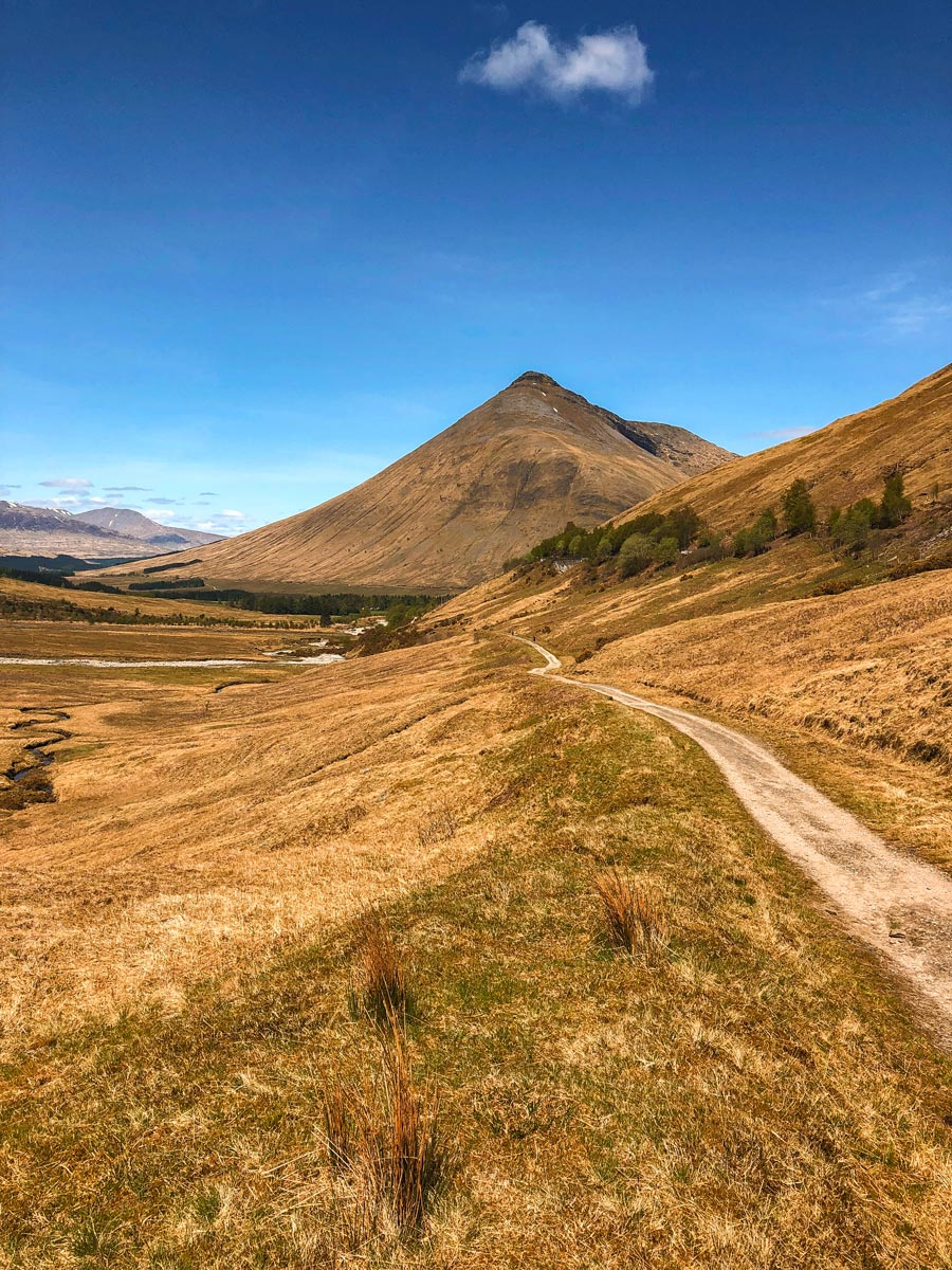Stunning scenery on the approach to Beinn Dorain on the West Highland Way