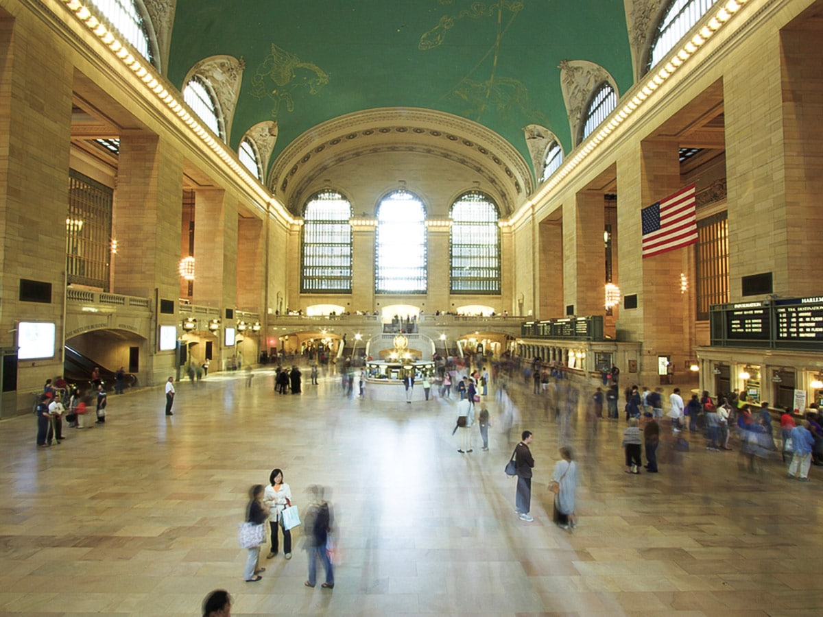 Main Concourse at Grand Central Terminal on city-walk in New York City