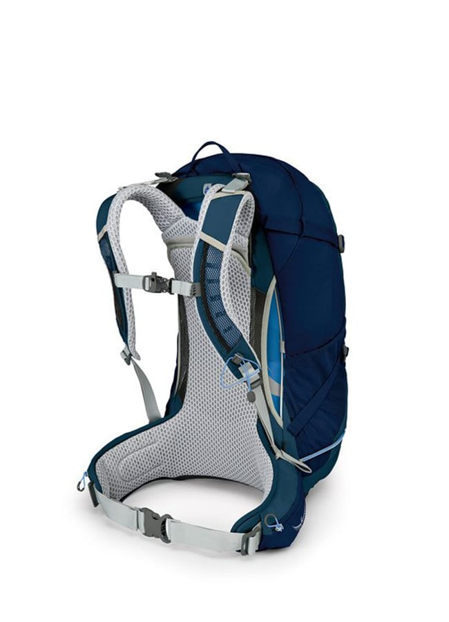 Back view of Osprey Stratos 34L Backpack