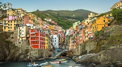 Colourful Italian village in Liguria, Italy