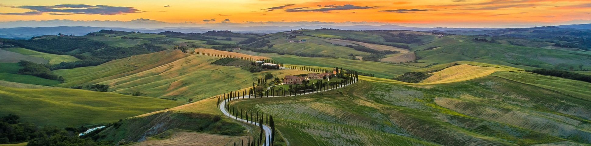 Beautiful countryside of Tuscan in Italy has plenty of hiking trails