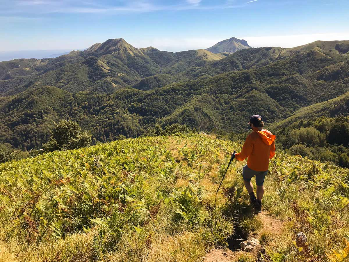 Beautiful trail of Monte Croce from Palagnana Hike in Tuscany, Italy