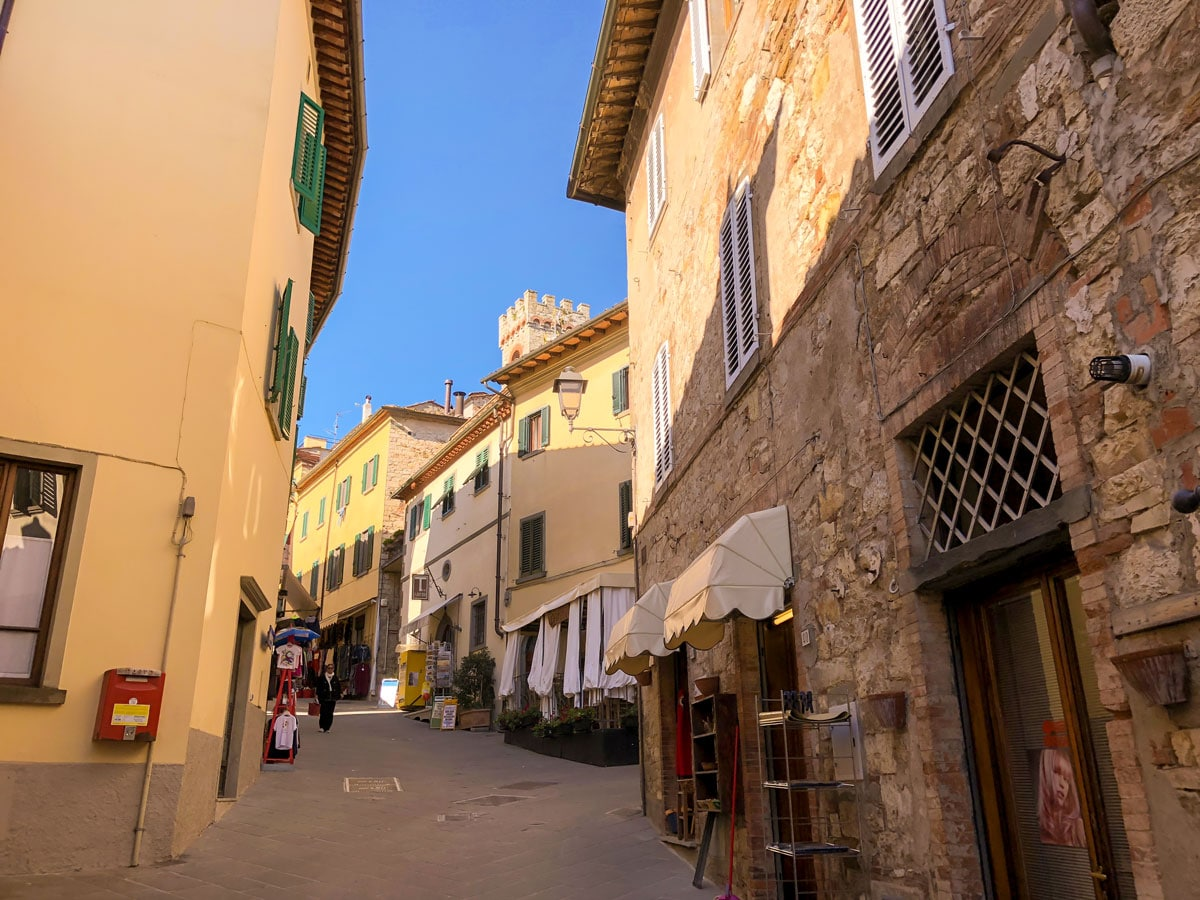 Architecture along the trail of Radda Loop walk in Tuscany, Italy