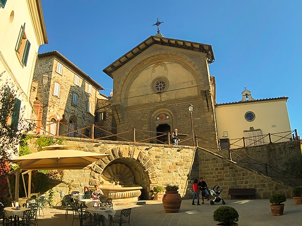 Architecture along the trail of Radda Loop Hike in Tuscany