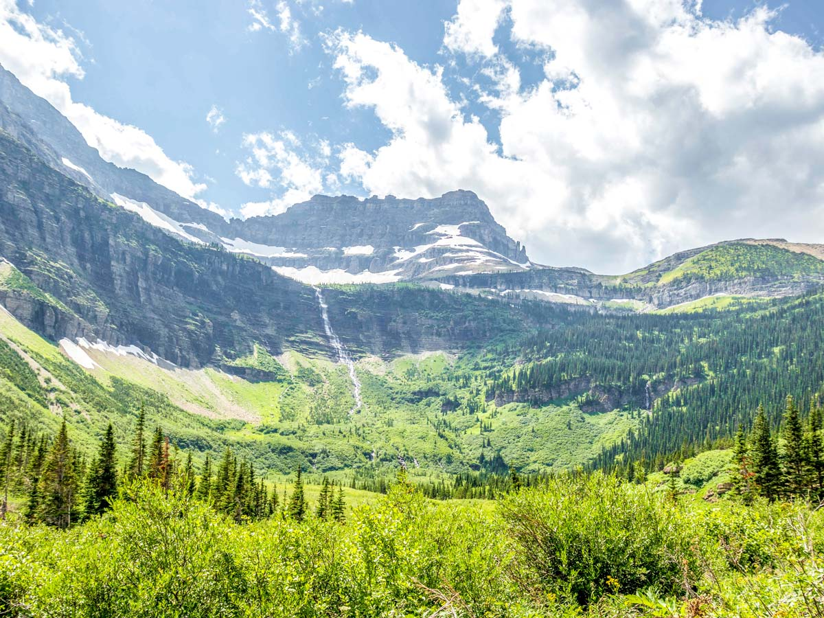 Amazing views on Boulder Pass Backpacking Trail in Glacier National Park