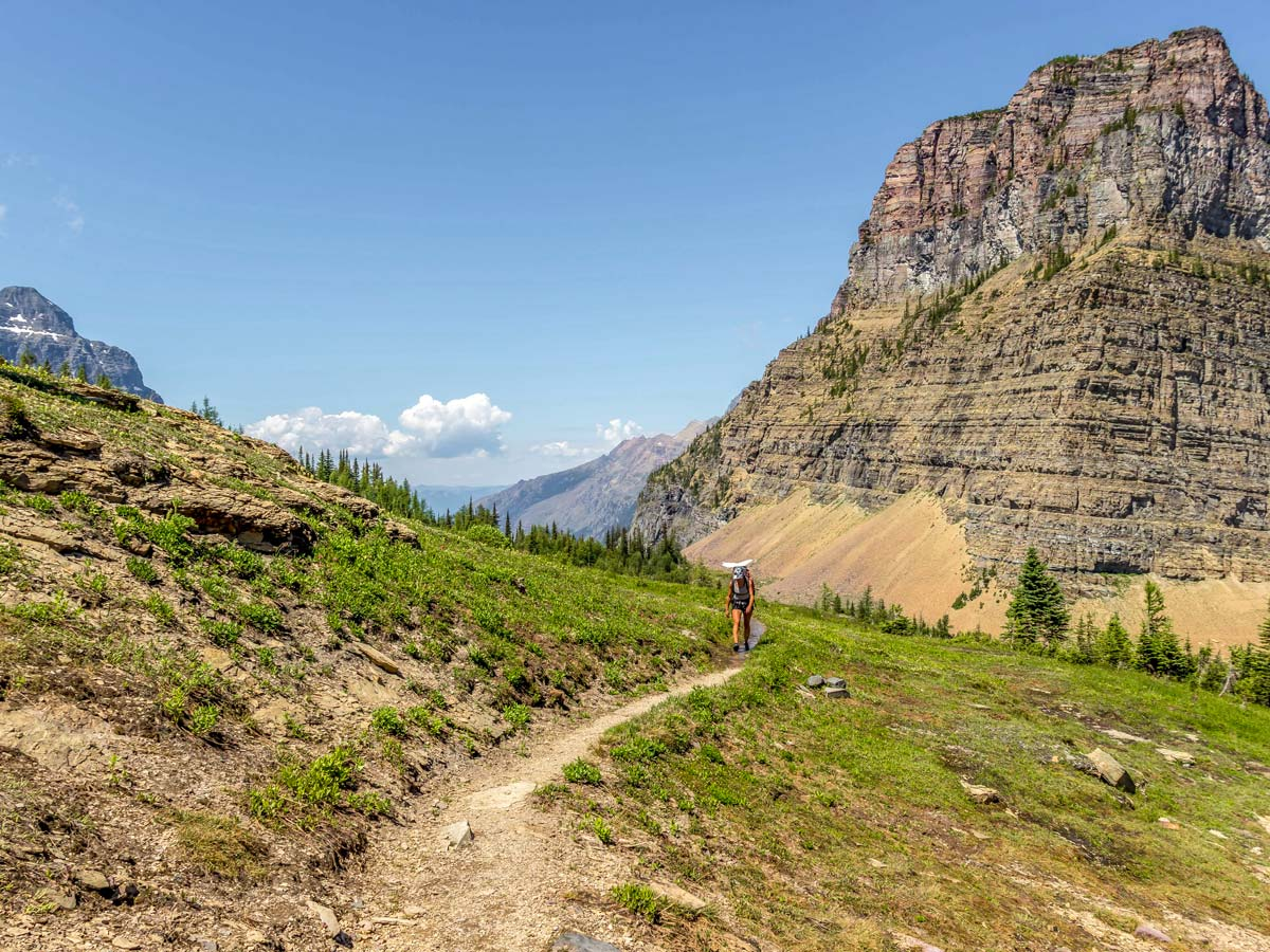 Boulder Pass Backpacking Trail in Glacier National Park rewards with beautiful views of Montana