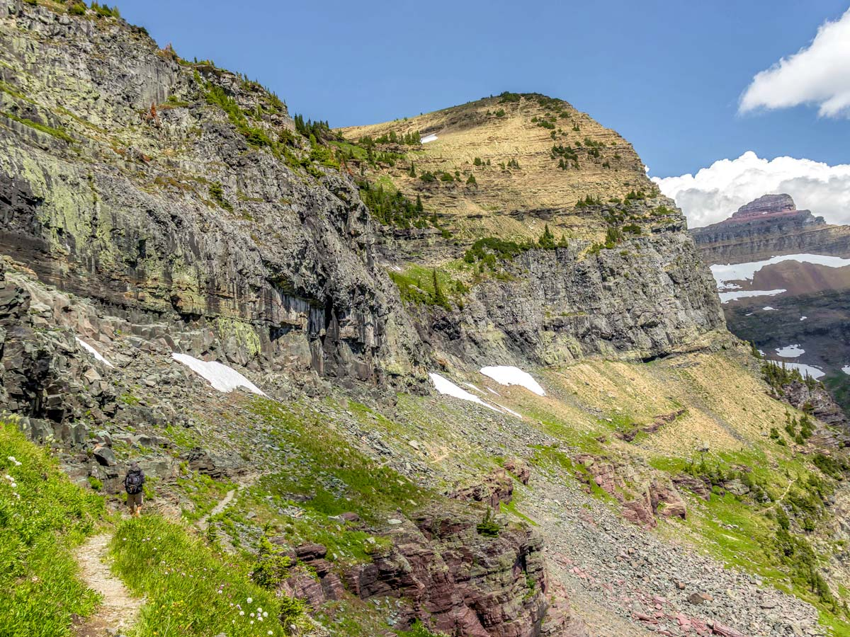 Amazing scenery on Boulder Pass Backpacking Trail in Glacier National Park