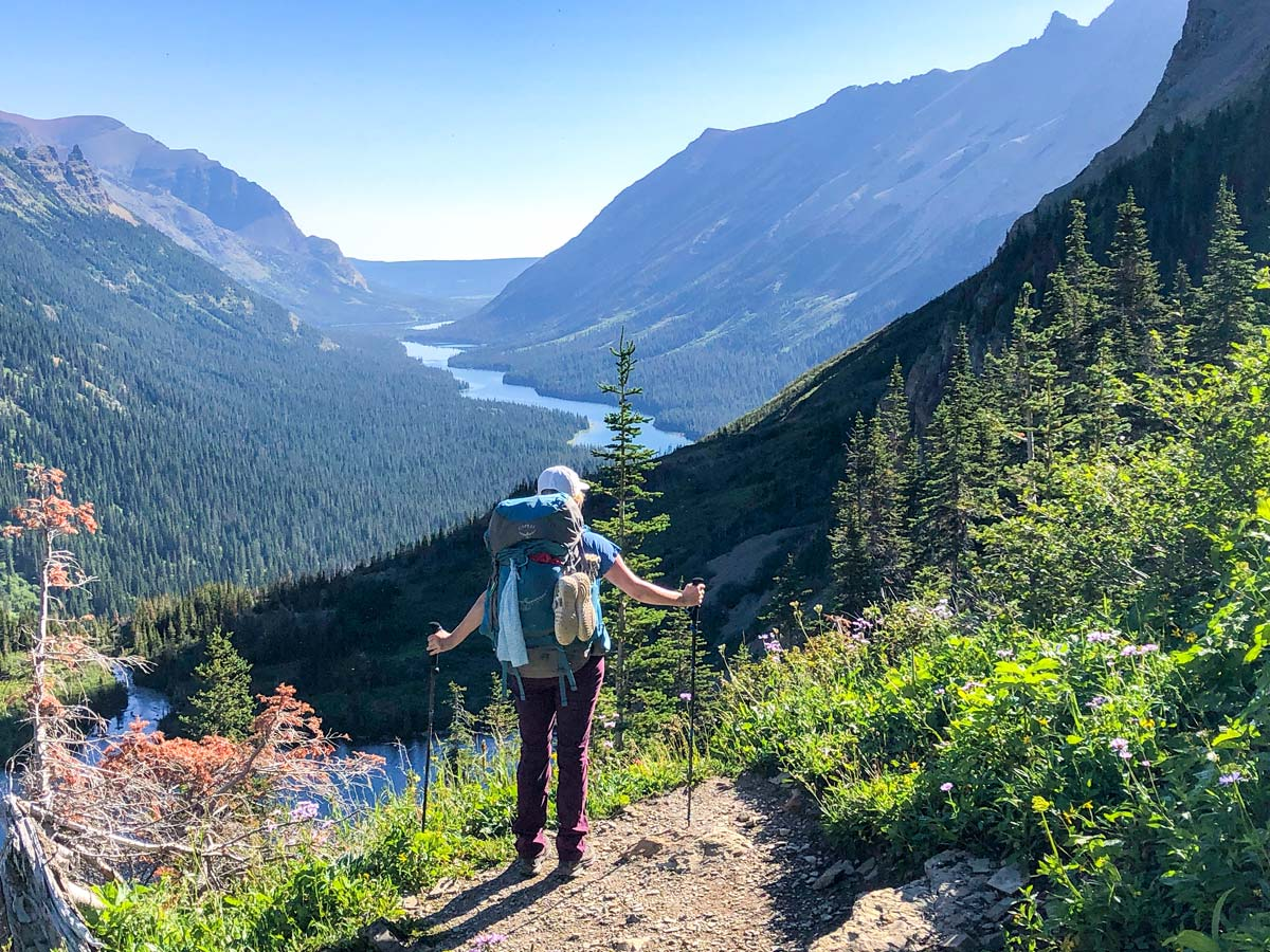 Glenns Lake view on North Circle Backpacking Trail in Glacier National Park
