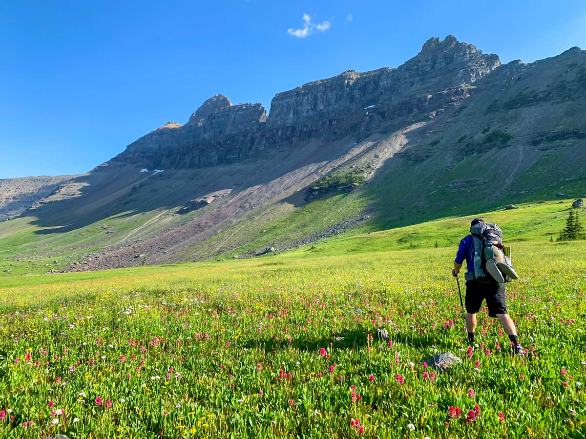 North Circle Backpacking Trail in Glacier National Park has amazing scenery of Montana landscapes