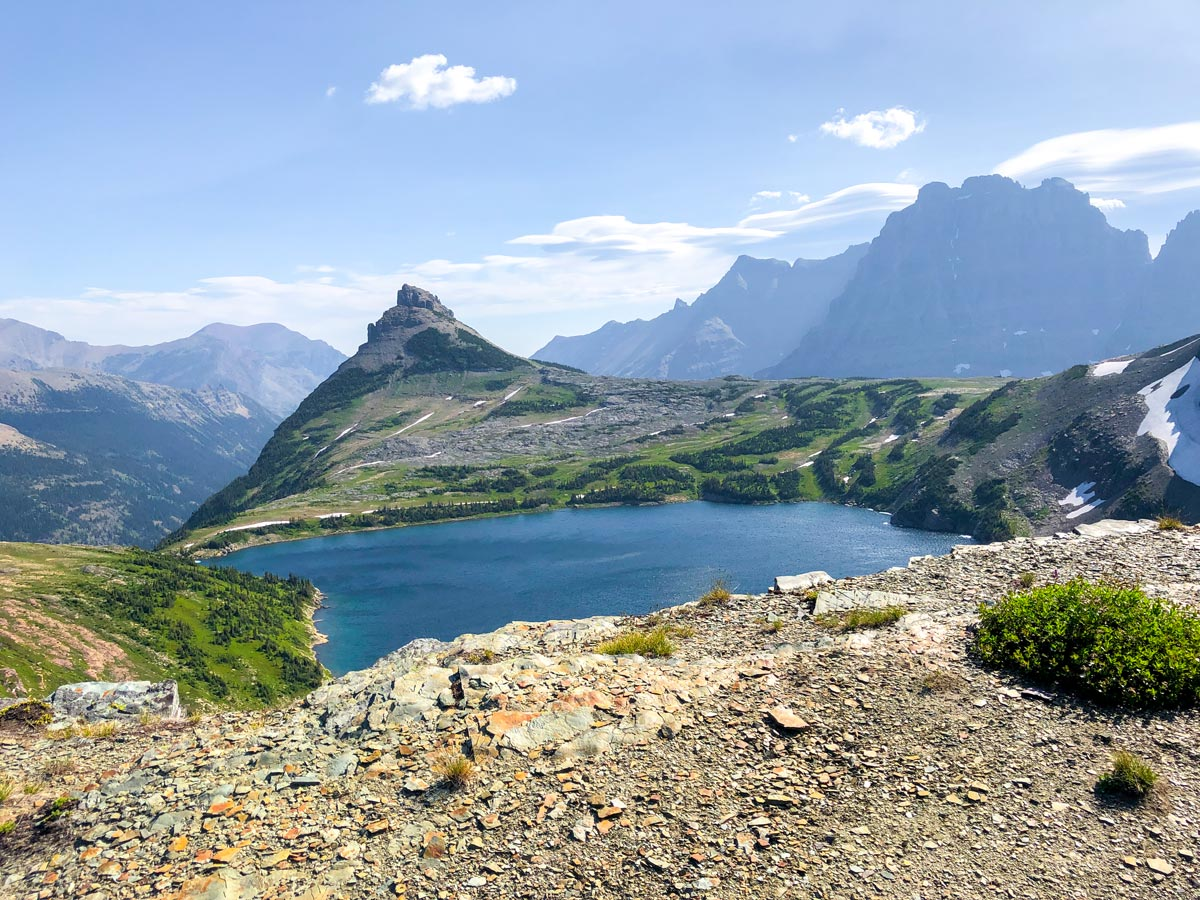 Sue Lake Overlook on North Circle Backpacking Trail in Glacier National Park