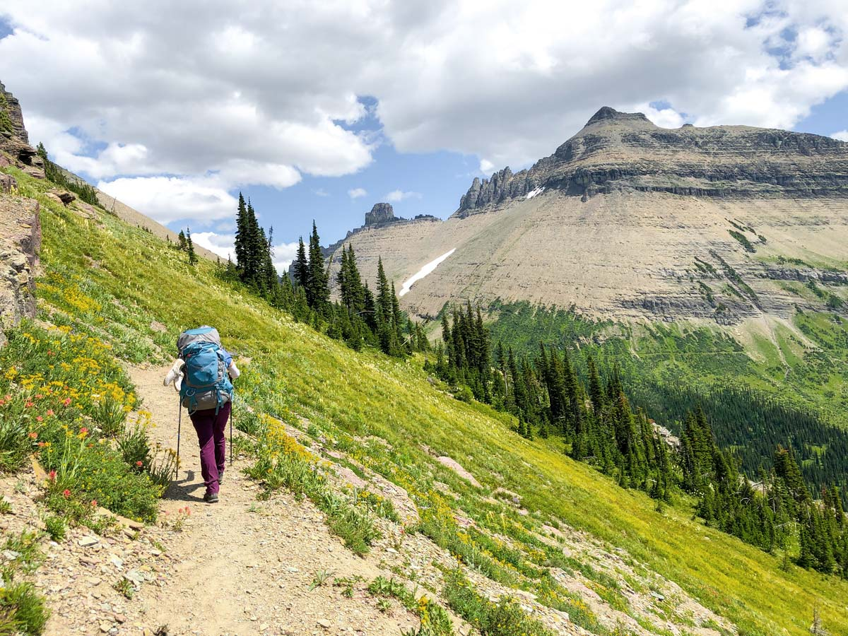 Day 5 on North Circle Backpacking Trail in Glacier National Park