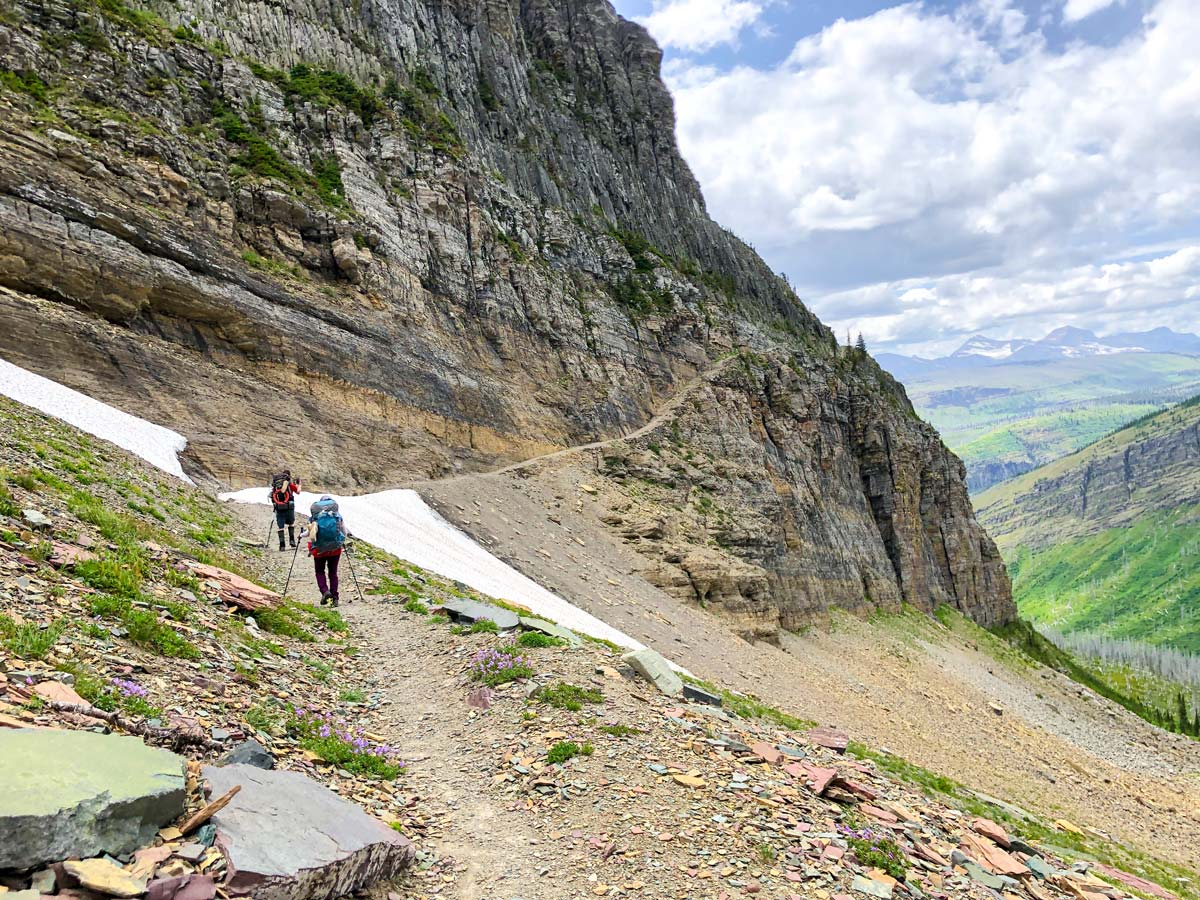 Ahren Drift on North Circle Backpacking Trail in Glacier National Park