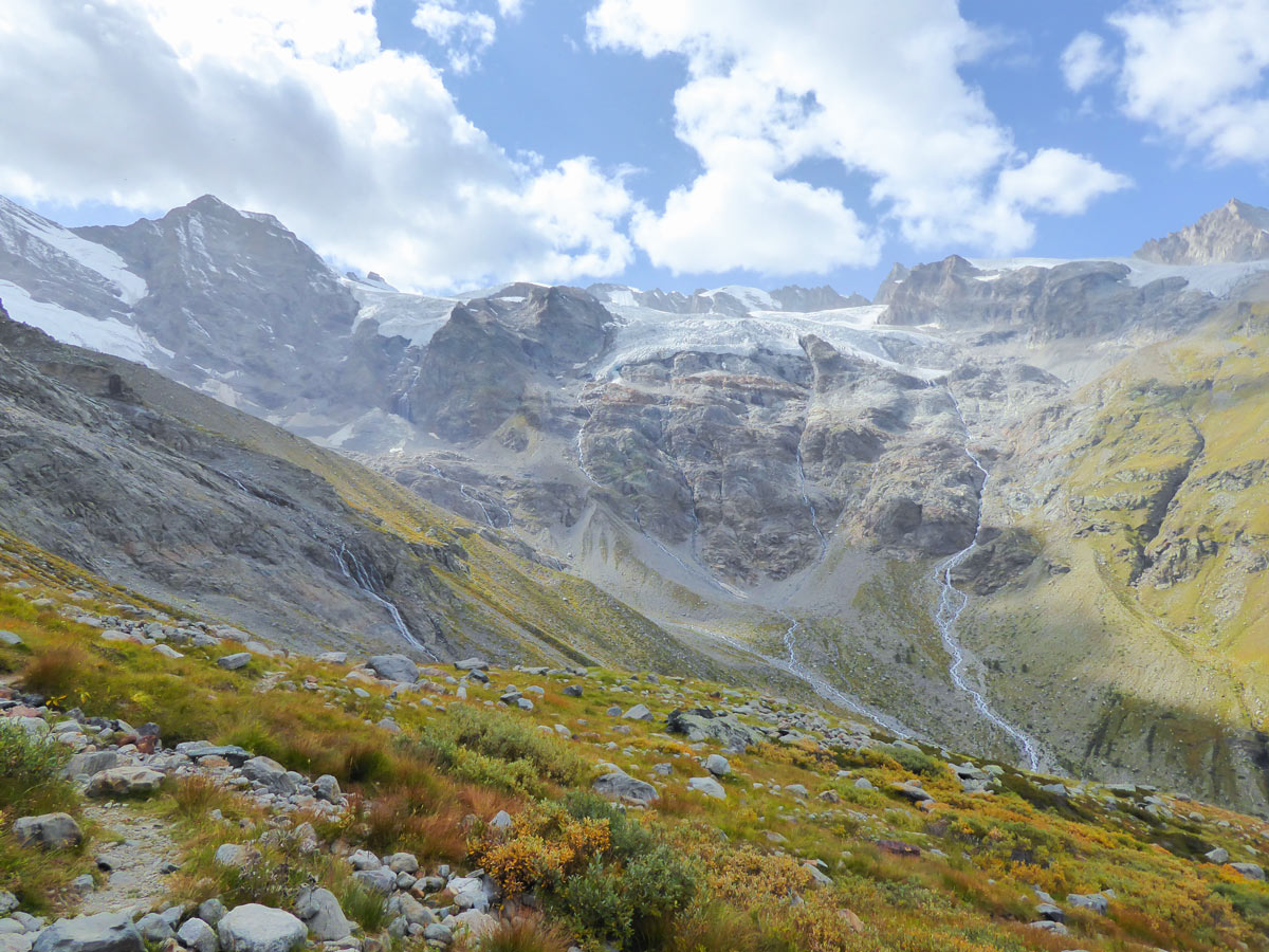 Waterfalls on Alpe Money hike in Gran Paradiso National Park