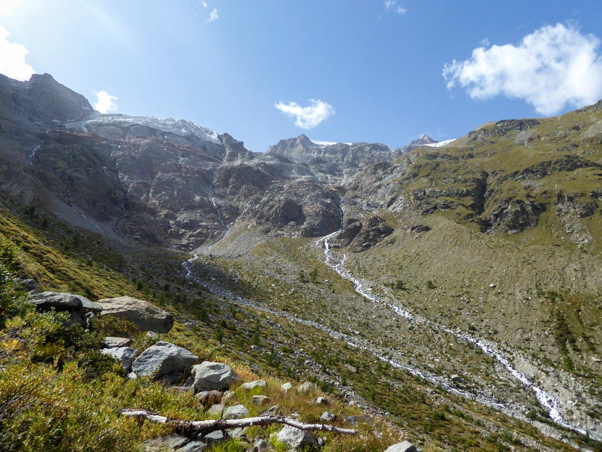 Valnontey River starts here (Views of Alpe Money hike in Gran Paradiso National Park)