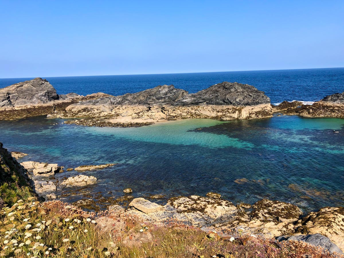 Rock pools at Saint Eval