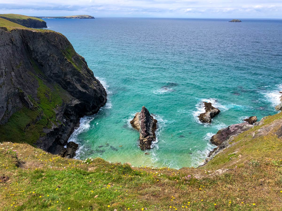 Steep cliffs and turquoise waters are a common feature of this beautiful walk