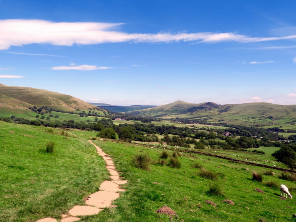 The Vale of Edale. Hope Valley Ridge in the background