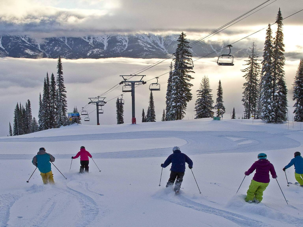 Skiing at Fernie Alpine Resort Photo credit Fernie Alpine Resort