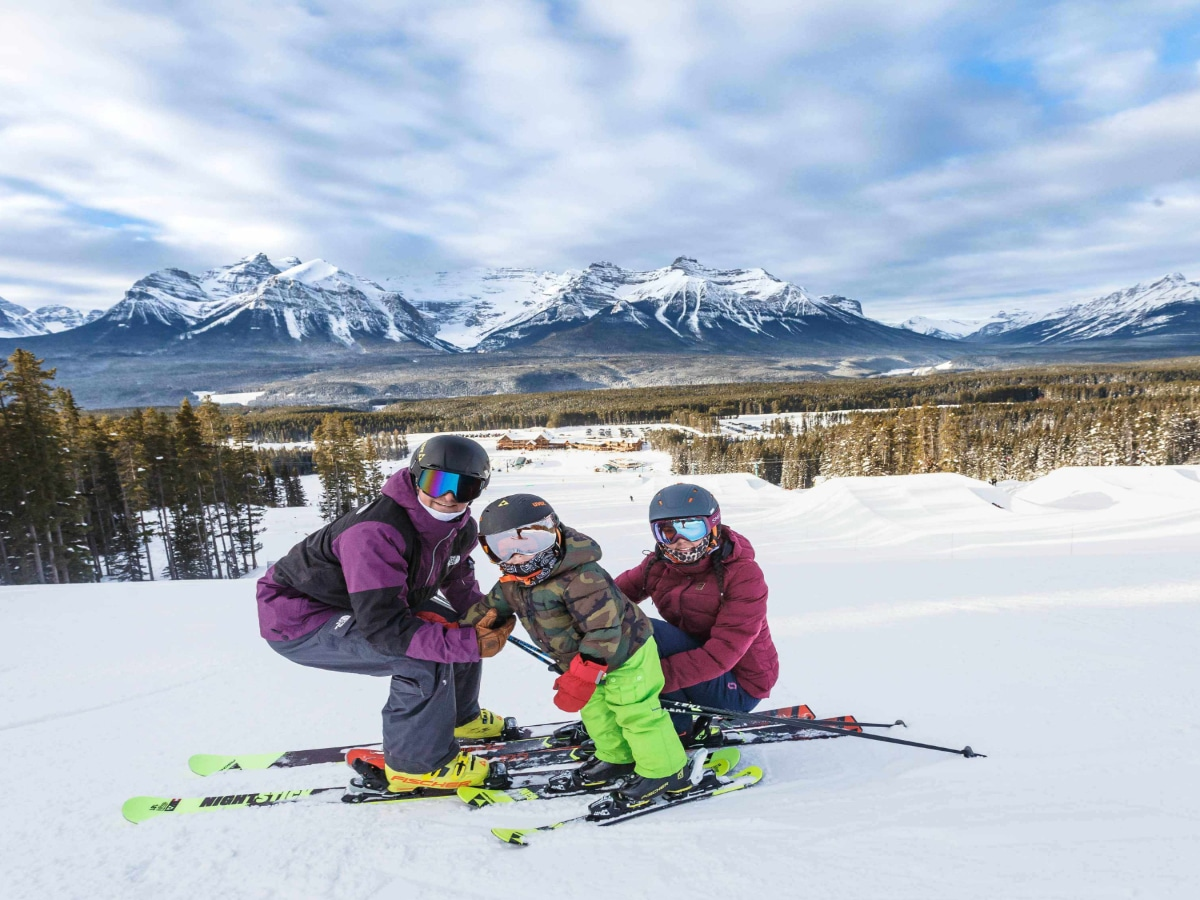 Family Skiing Photo Credit Lake Louise Ski Resort