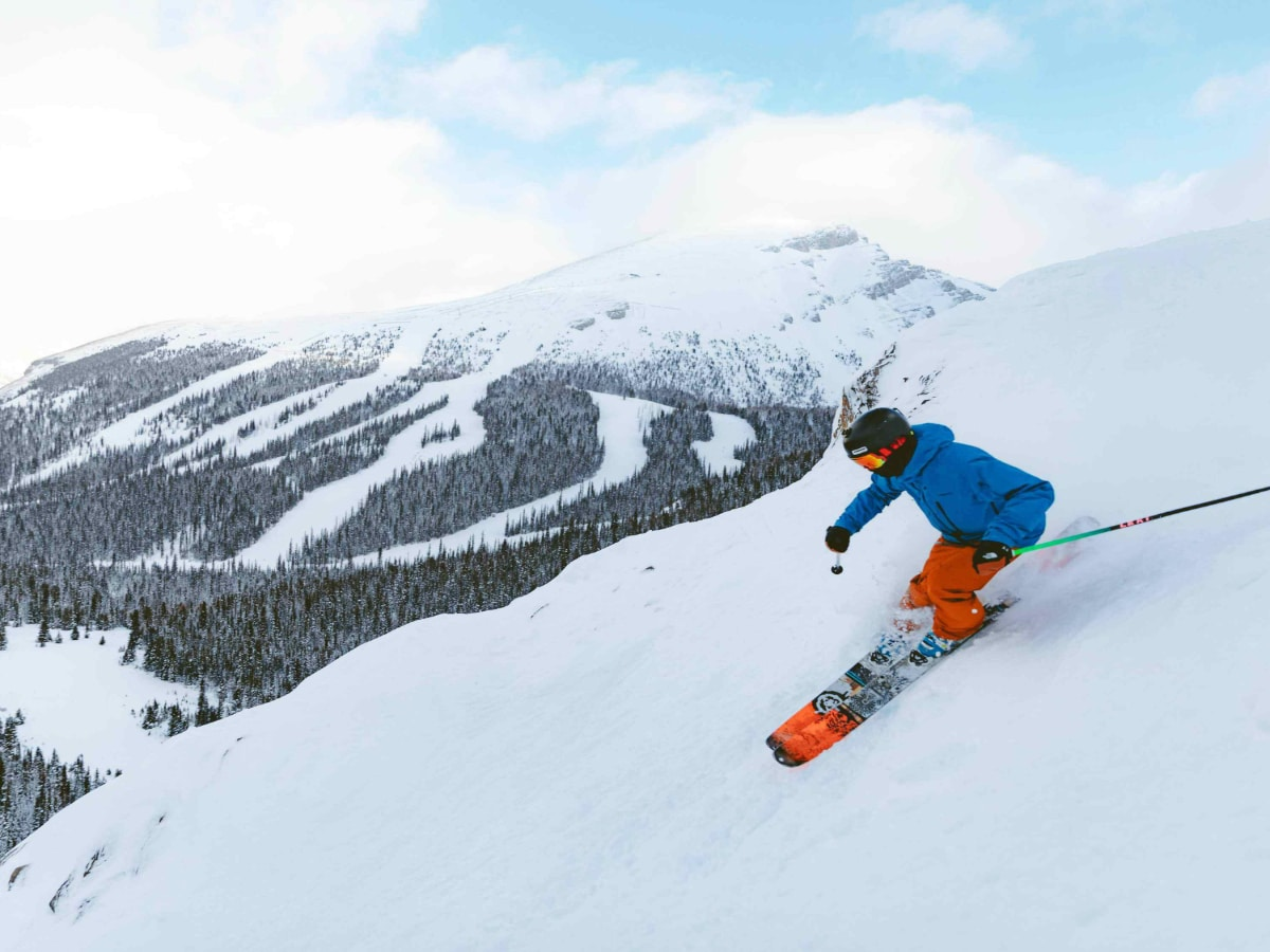 Skiing downhill Photo Credit Banff Sunshine Resort