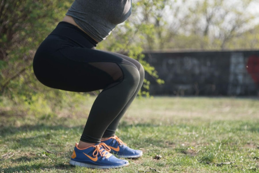 Training from home for hikes squats training