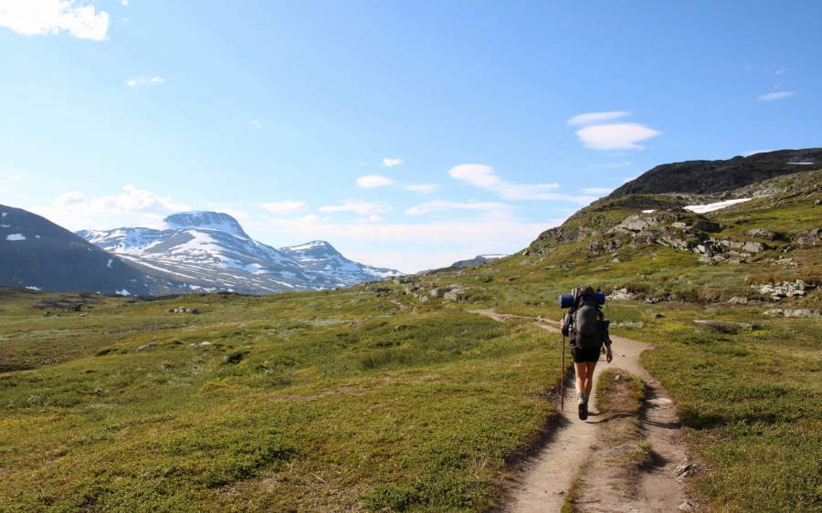 Training for the first backpacking trip walking with heavy load