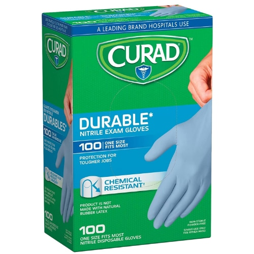 Curad Nitrile Disposable Exam Gloves