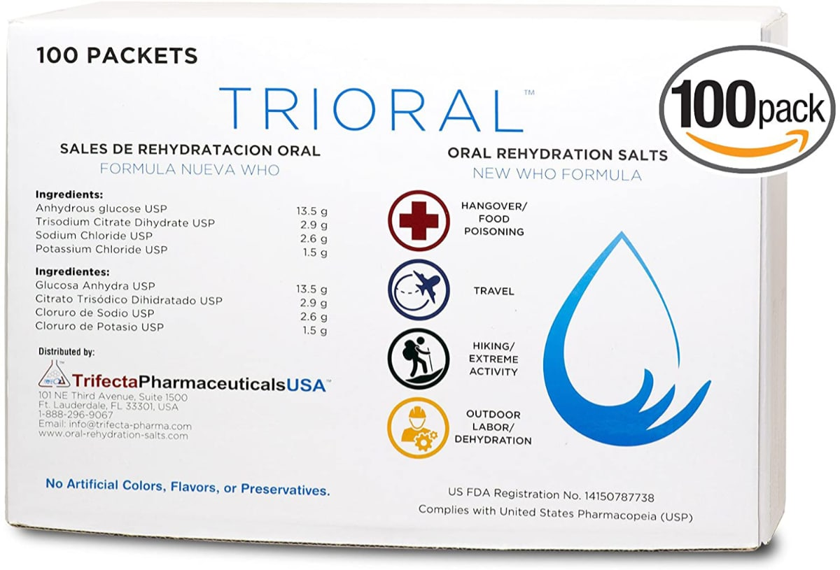 Oral Rehydration Salts ORS (100,One Liter Packet)