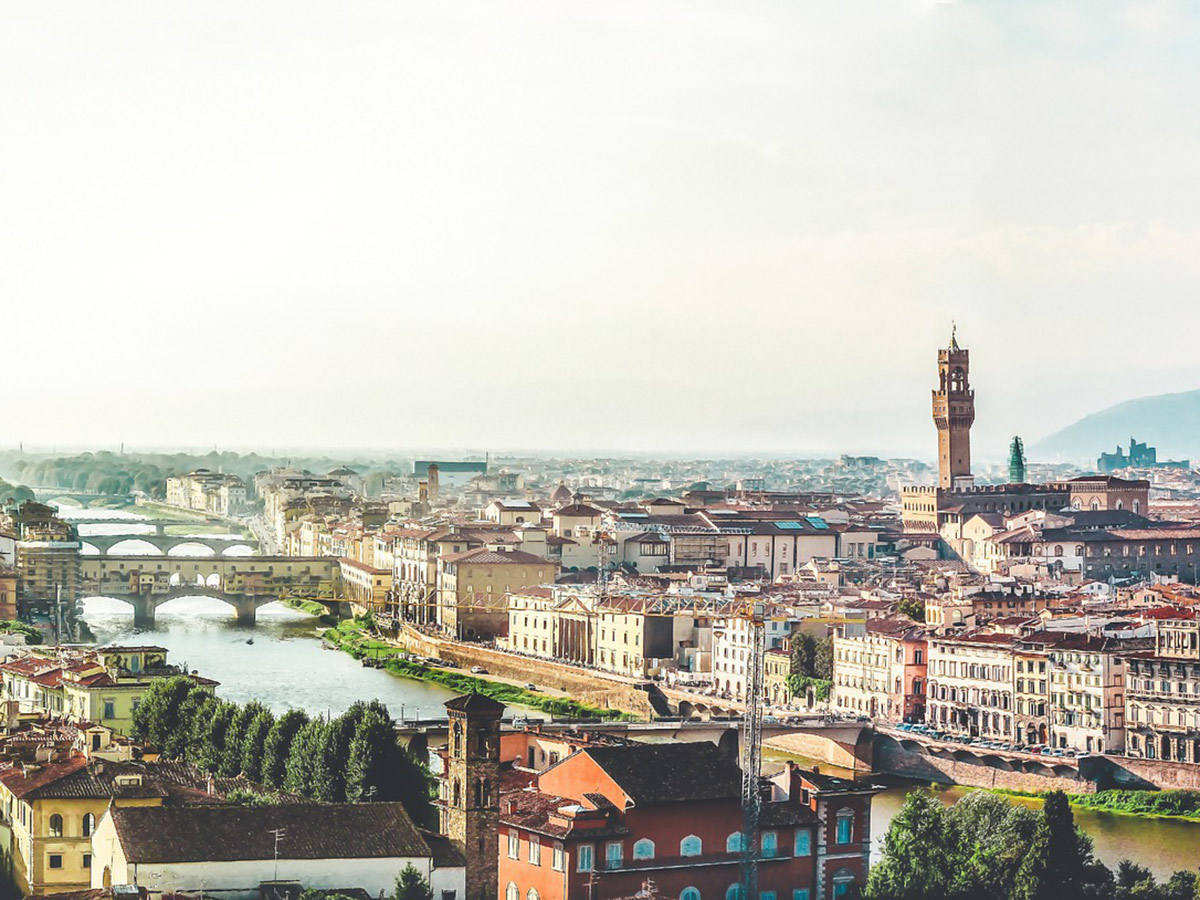 Beautiful views of Florence in Tuscany, Italy