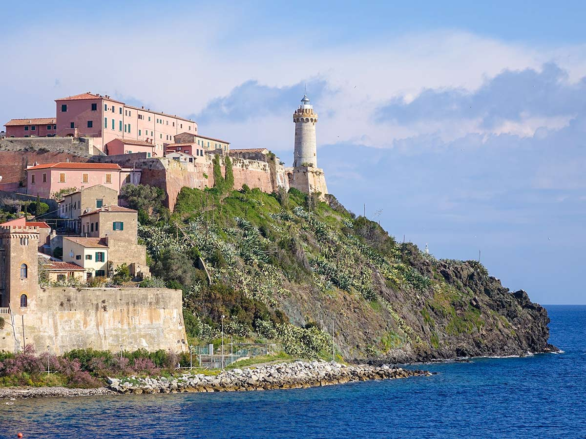 Portoferraio as seen from the sea in Elba Island, Tuscany