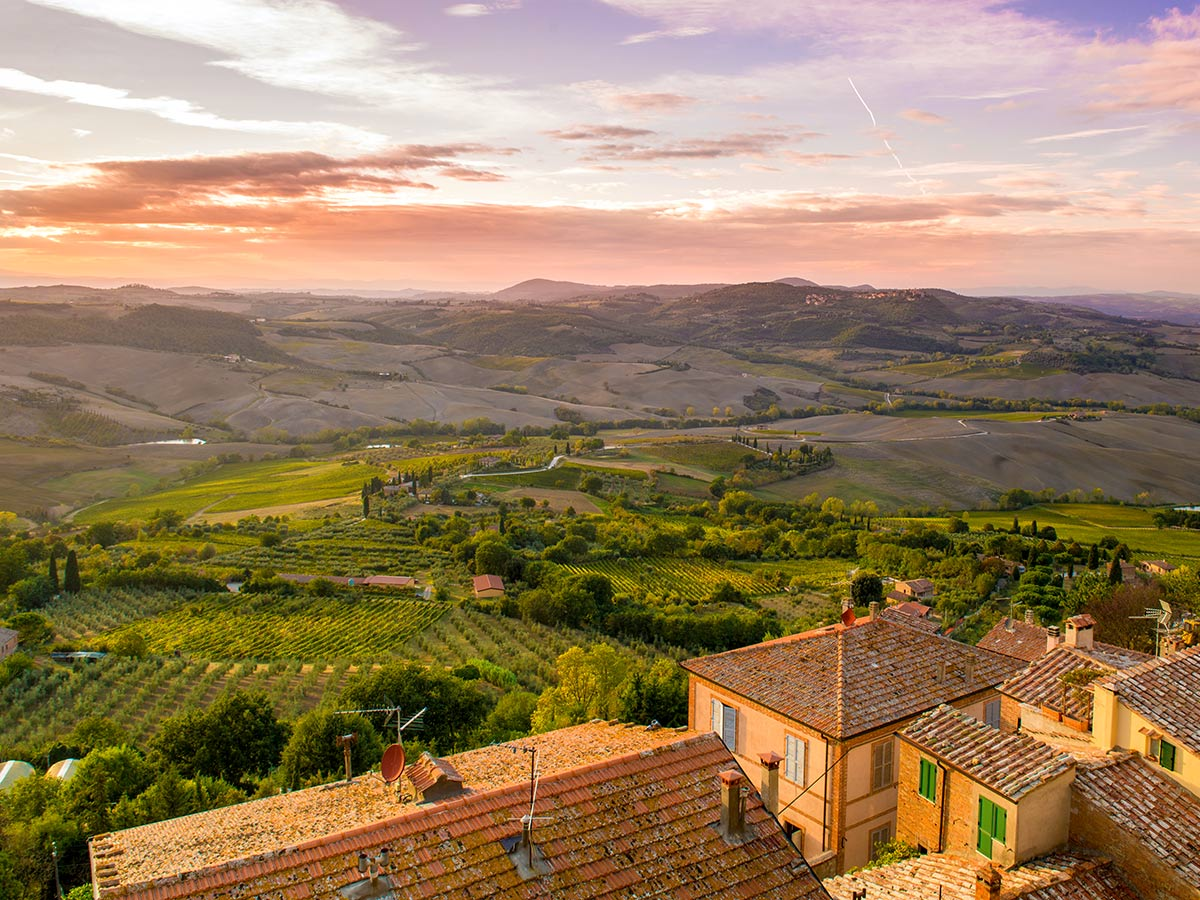 The countyside and wineyards of Tuscany, Italy