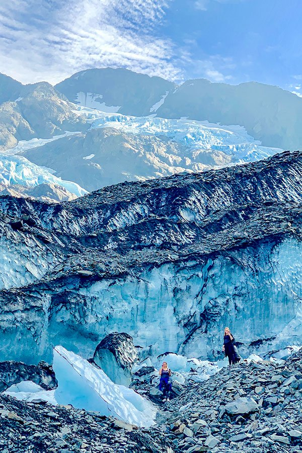Beautiful walls of ice on Byron Glacier Hike near Anchorage Alaska