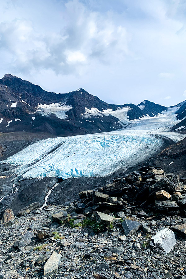 Crow Pass Trail from Girdwood has amazing views of Raven Glacier