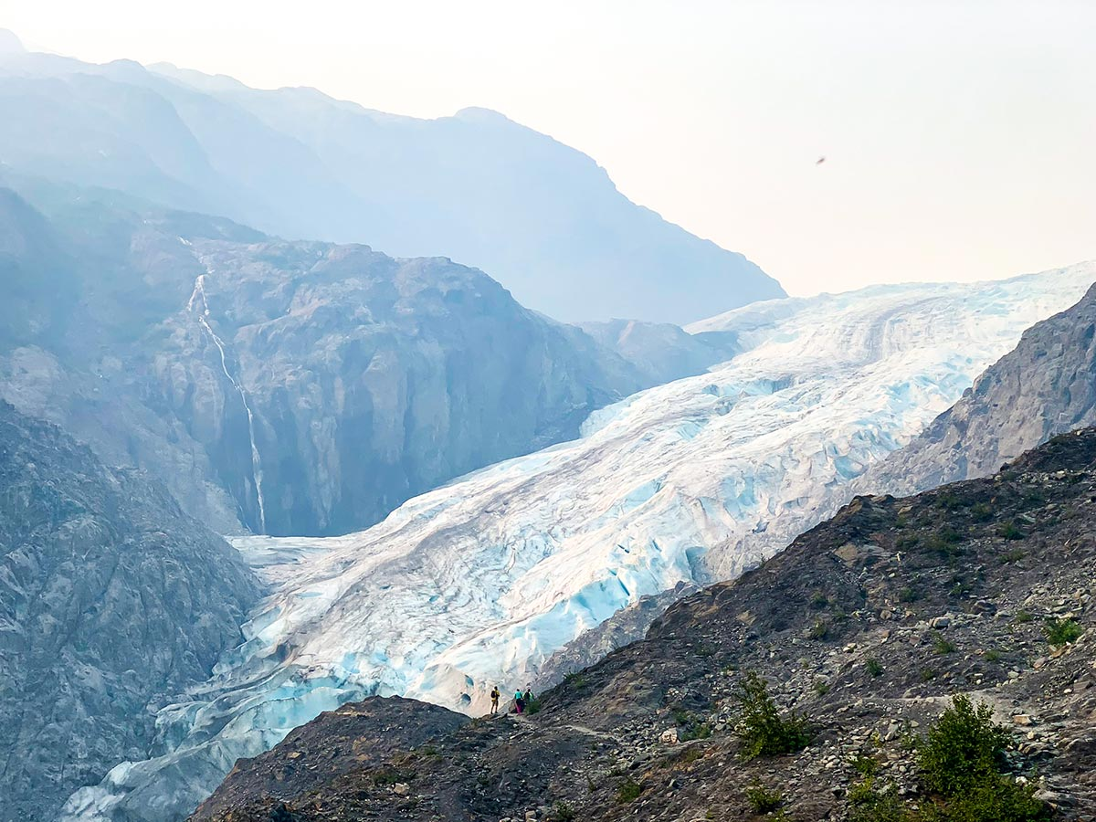 Closer look to Exit Glacier in Kenai Fjords National Park