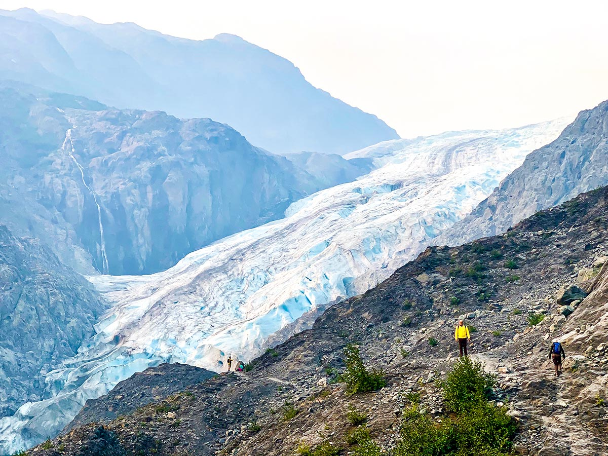 Exit Glacier pouring from Harding Icefield in Kenai Fjords National Park