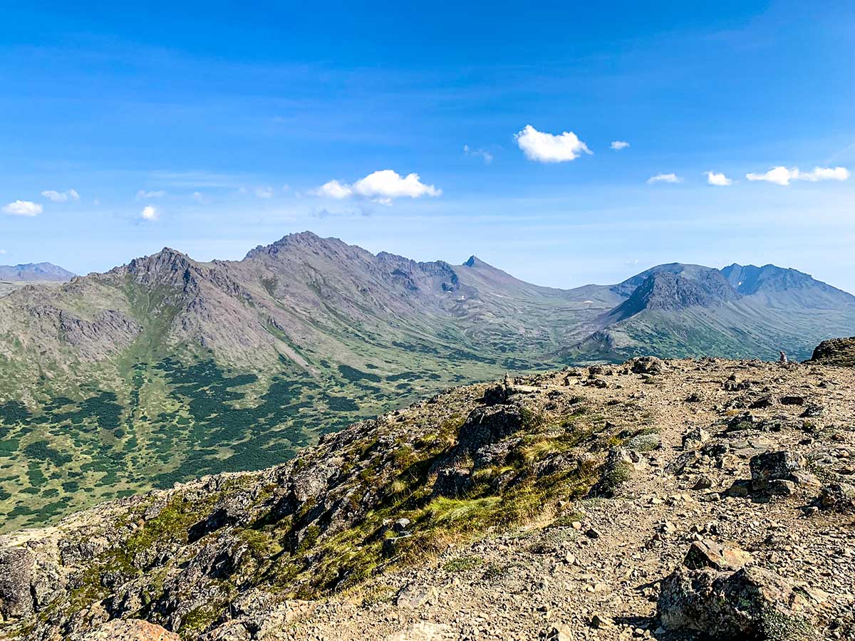 Lots of space on the top of Flattop Mountain Anchorage Alaska