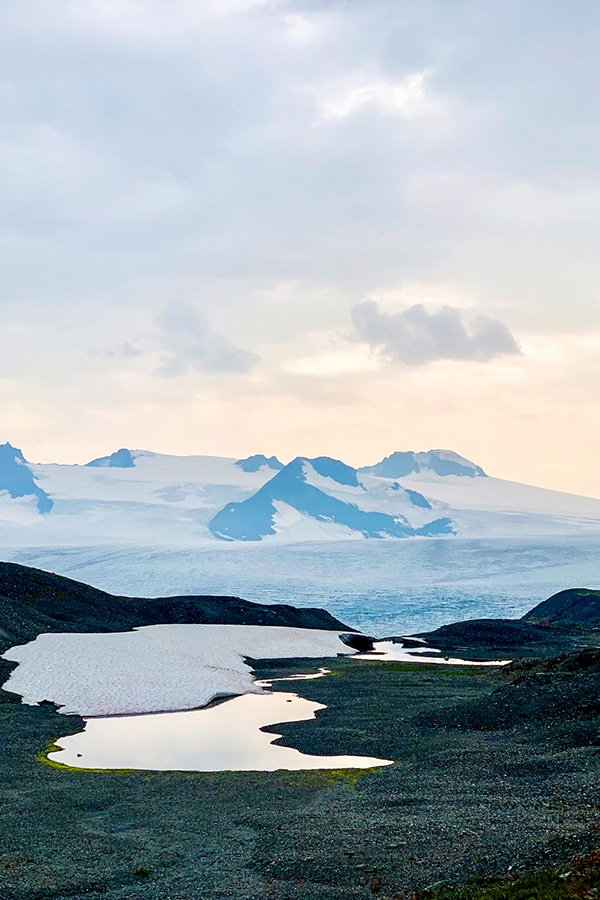 Views from another world on Harding Icefield Trail in Alaska