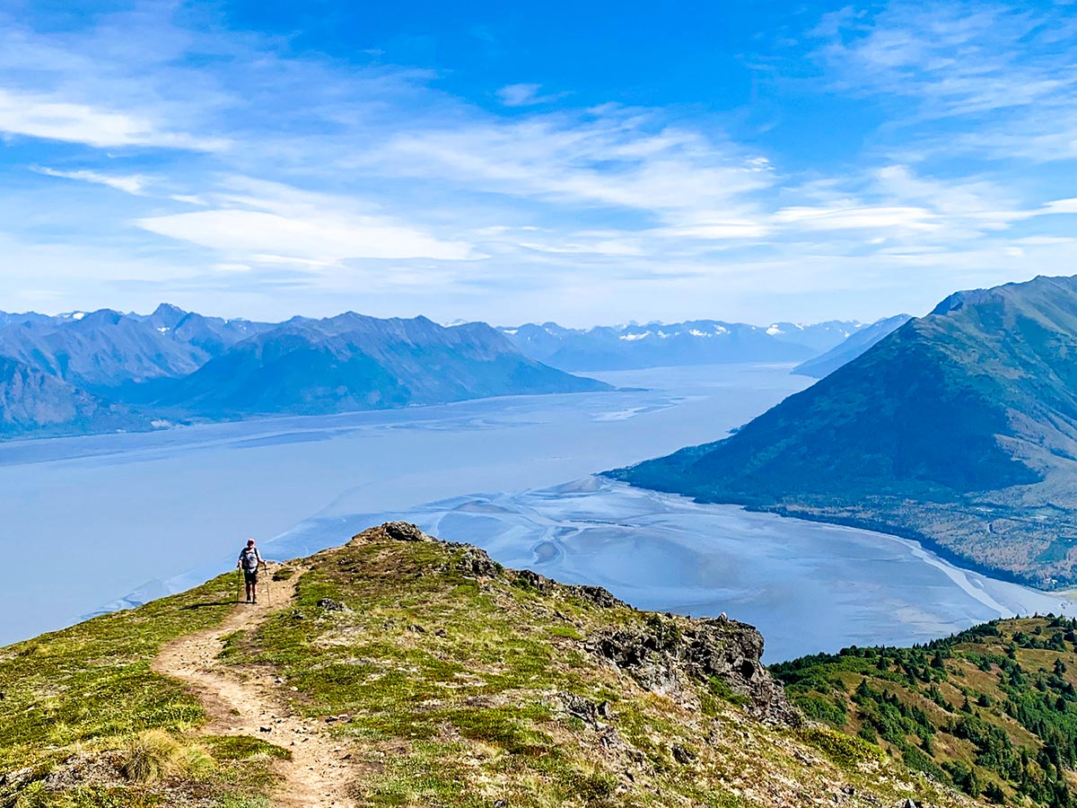 Views from the above on Hope Point Hike near Anchorage Alaska
