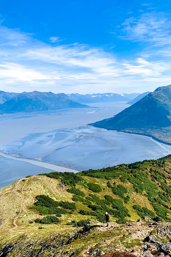 Hope Point Trail near Anchorage has amazing views of Turnagain Arm