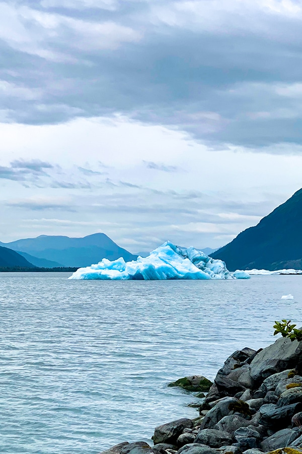 Seing icebergs in Portage Lake is a rare sight nowadays