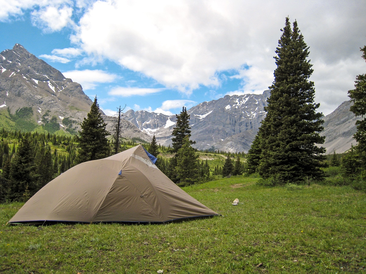 Setup in Tombstone Lake Backcountry Campground